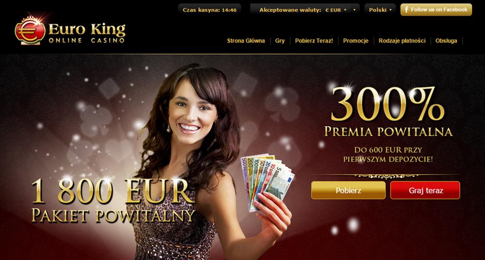Euroking casino bonus code 2018